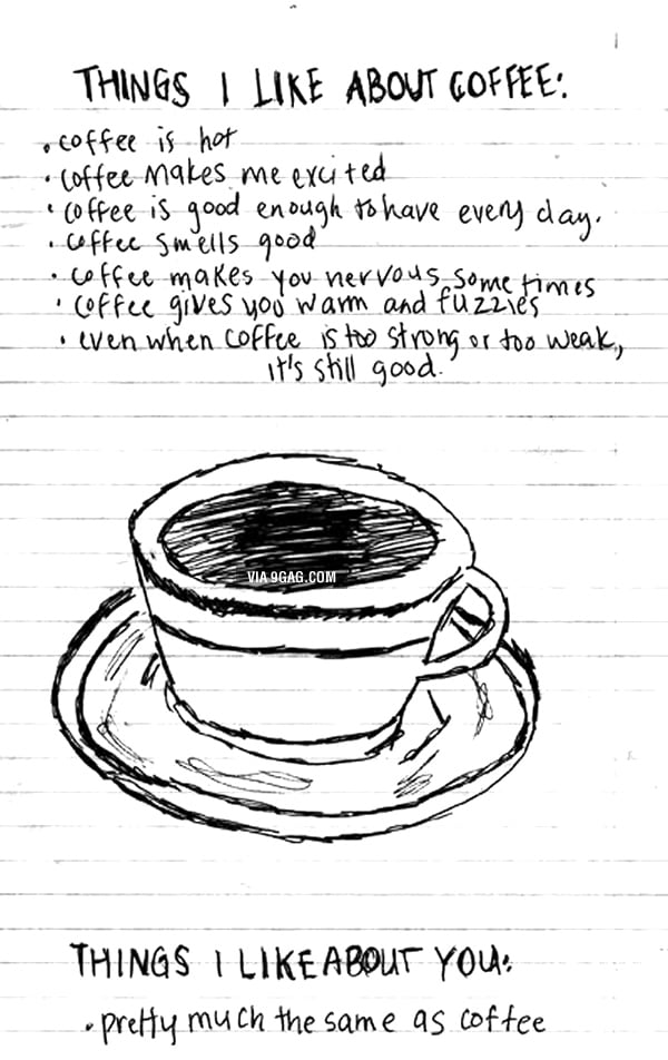 Things I like about coffee and you