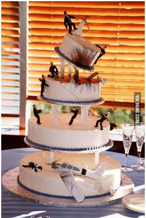 The Manliest Wedding Cake I've Ever Seen