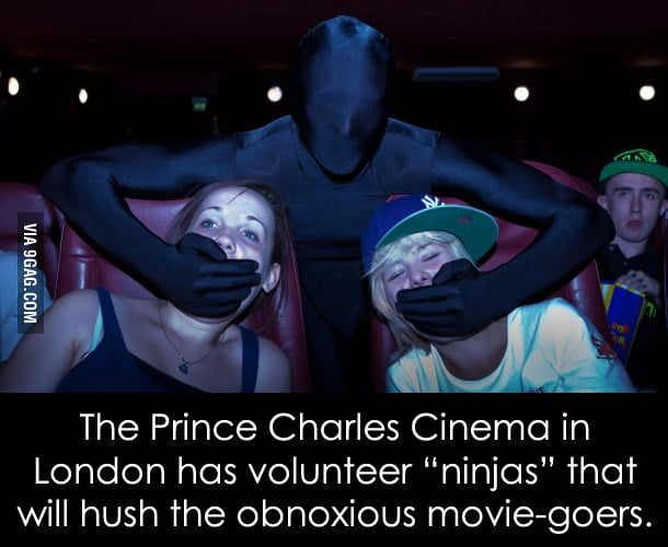 We need this kind of ninjas in every cinema.
