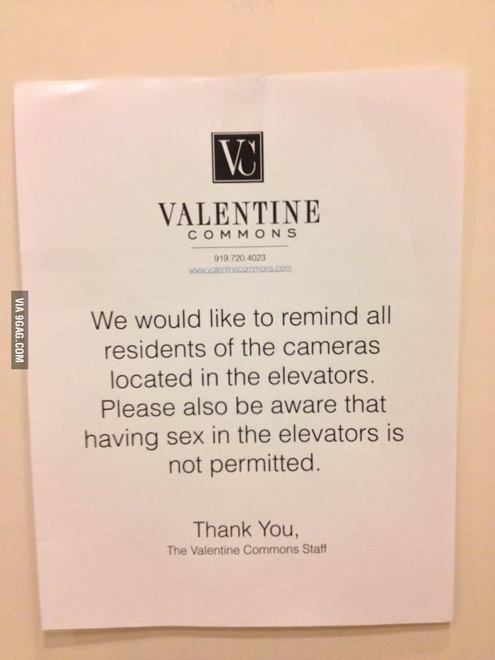A note to the residents at The Valentine Commons