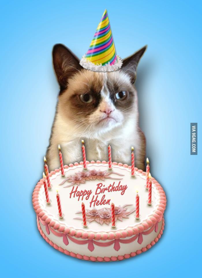 Grump Cat Birthday Card