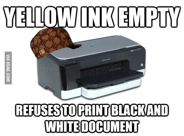 Scumbag Printer Logic