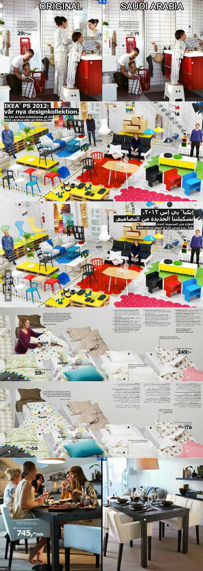 IKEA removes women from 2012 Saudi Arabian IKEA catalog