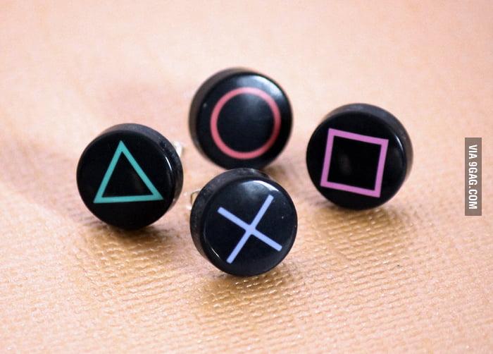 PlayStationButton Earrings