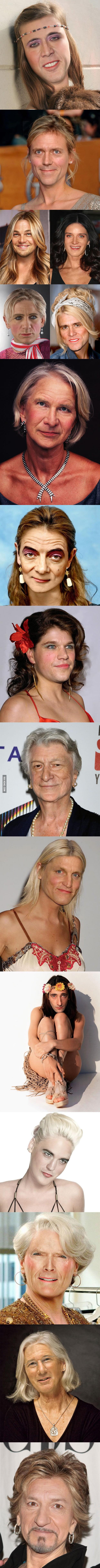 Celebrity Men as Women