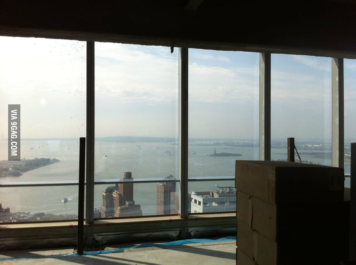 The view from the new World Trade Center.