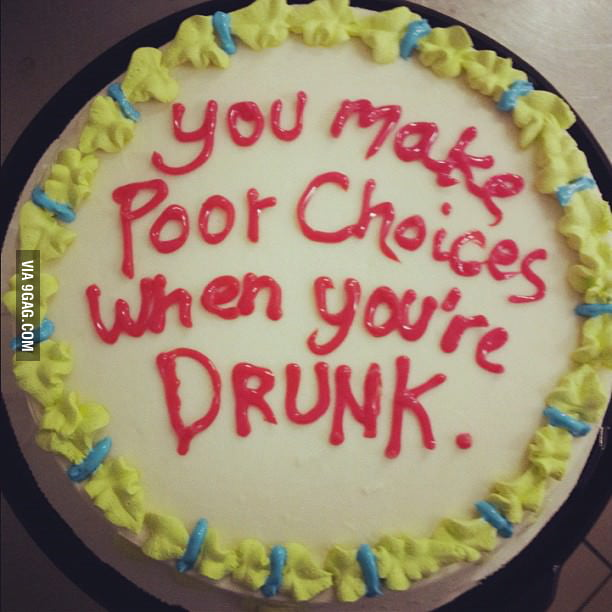 This is a thoughtful birthday cake.