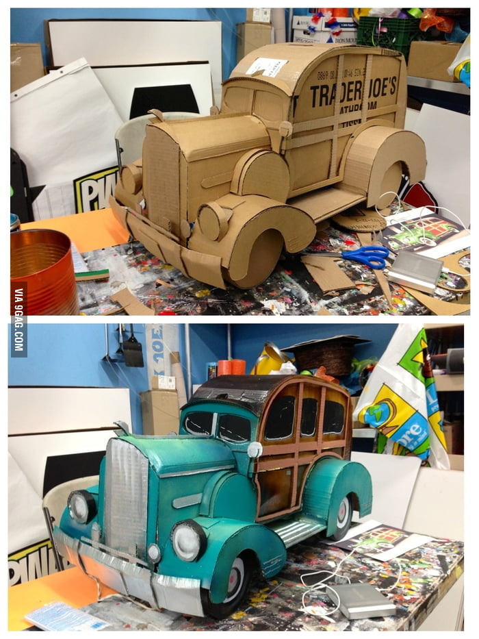 Cardboard Station Wagon