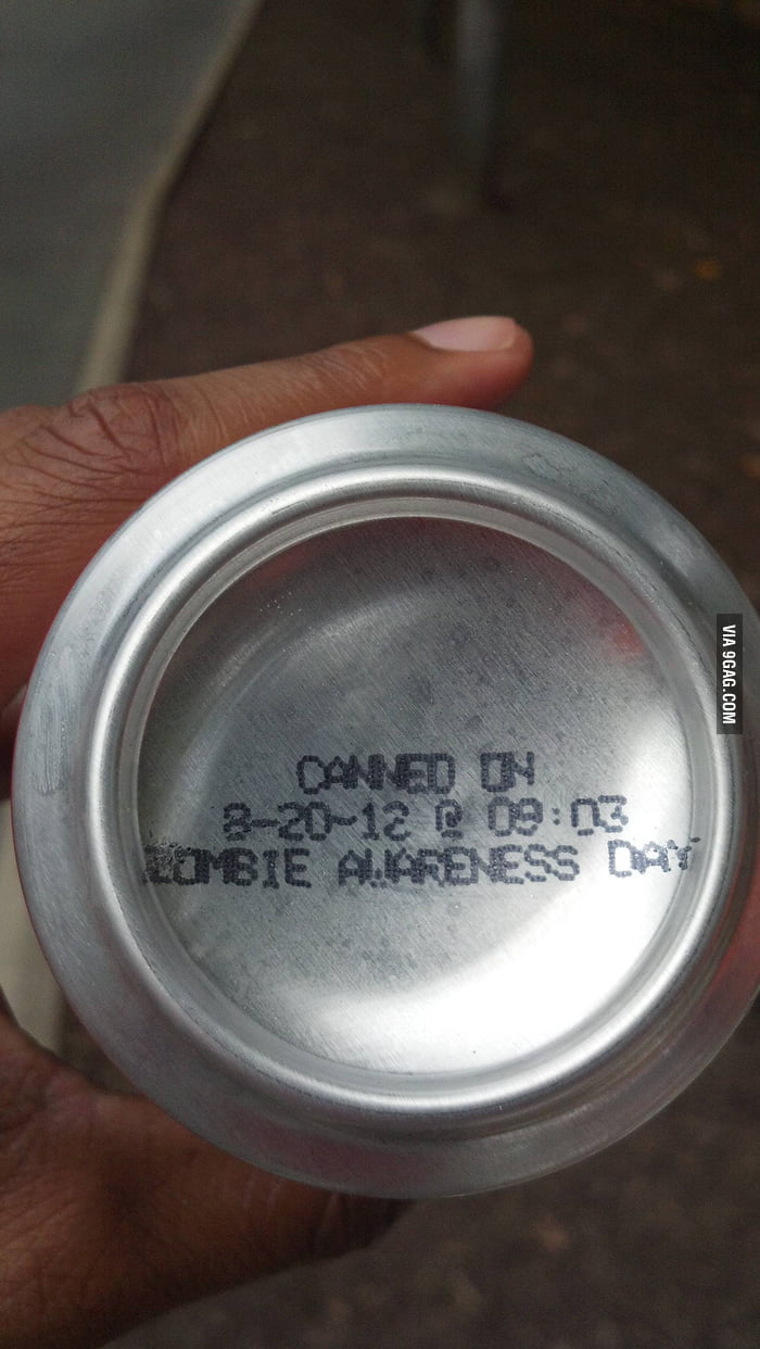 Canned on Zombie Awareness Day