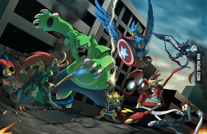Pokemon x Avenger = Pokevengers!