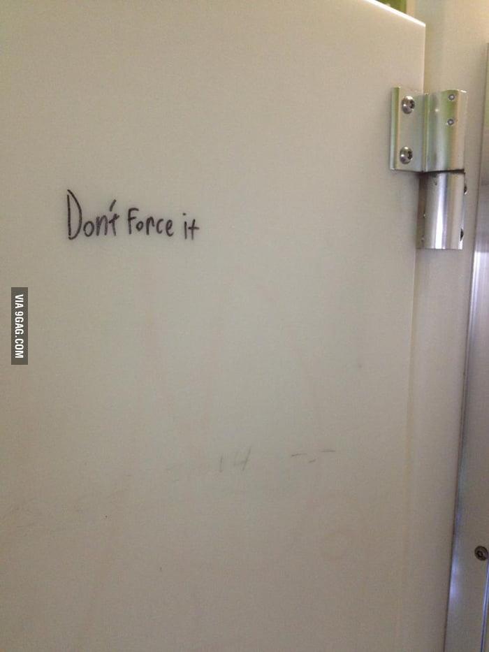 Some wise wisdom in a bathroom stall 9gag for Bathroom 9gag