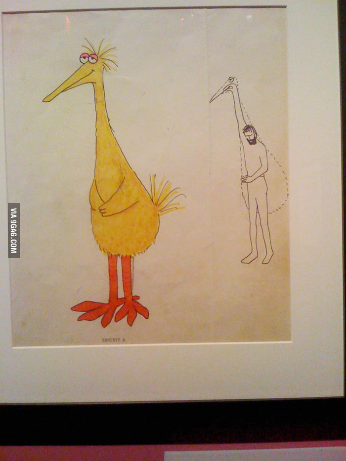 Jim Henson's first drawing of Big Bird