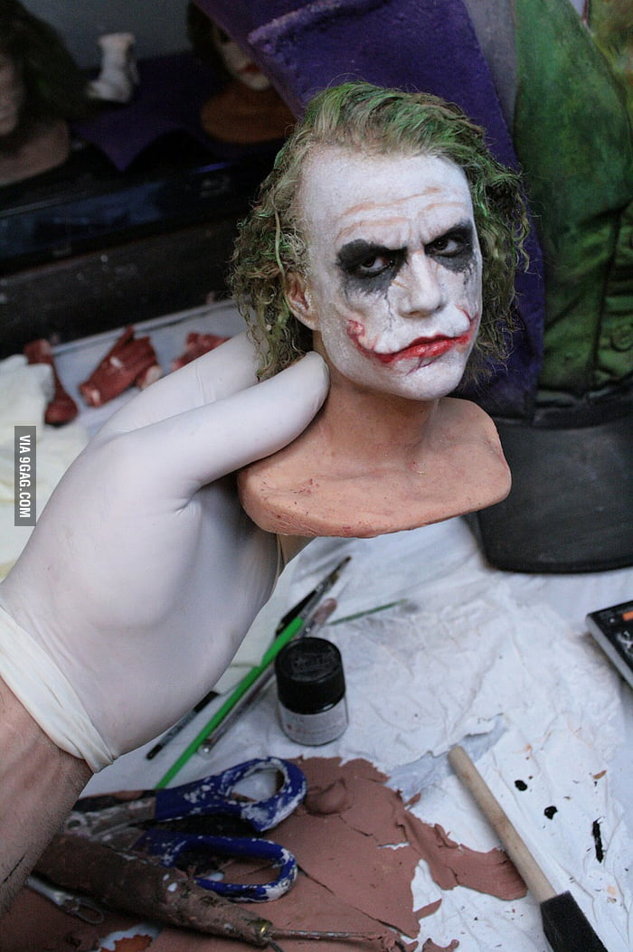 Heath Ledger as The Joker awesome sculpture