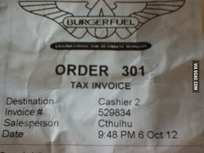 See who served me a burger last night...