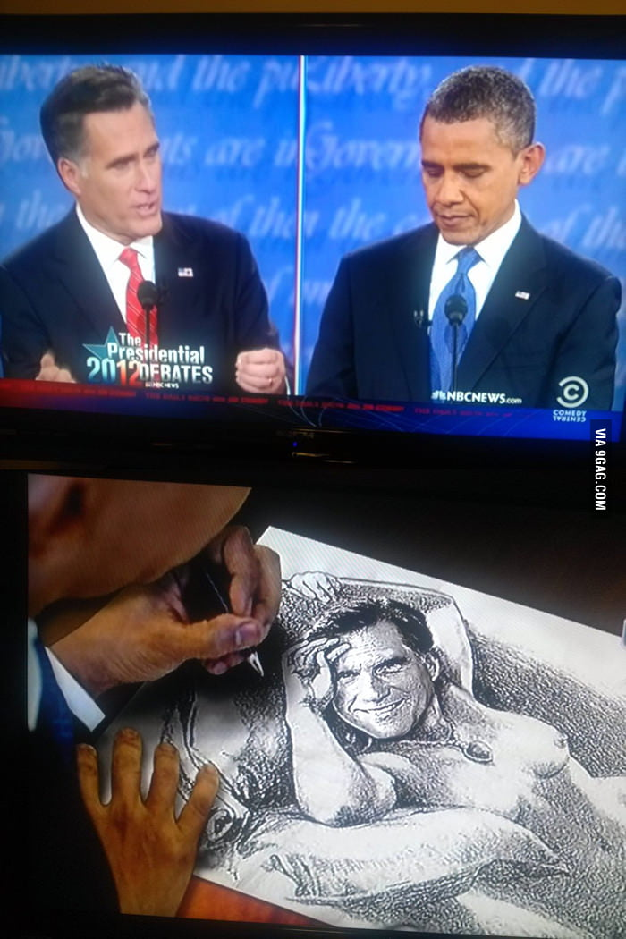 What Obama was looking at during the debate.