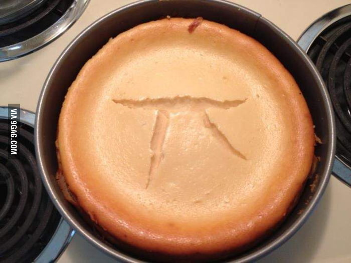 Thought I was making cheesecake but instead I got Pi.