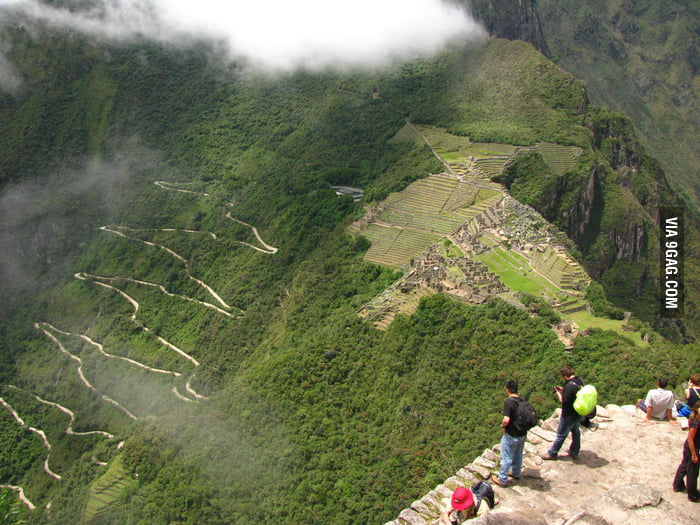 This is the road that leads up to Machu Picchu.