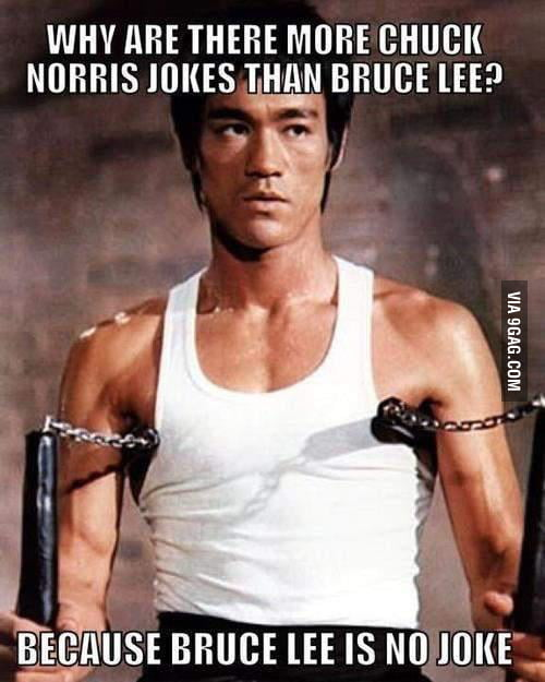 Why are there more Chuck Norris than Bruce Lee?