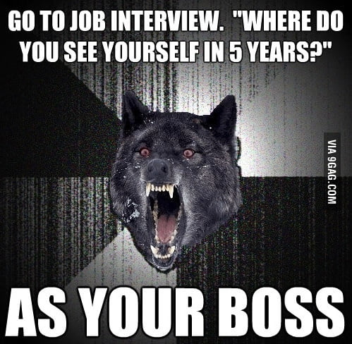 Go to job interview, where do you see yourself?
