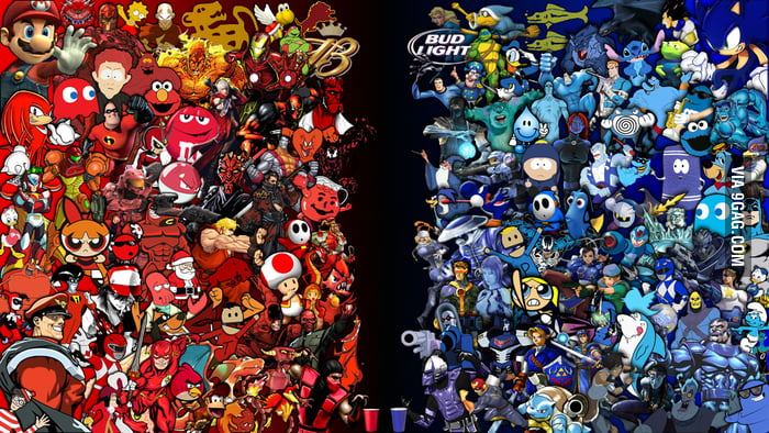 Which side do you take in a battle of Red vs Blue?