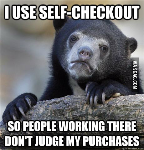 Confession Bear at the store