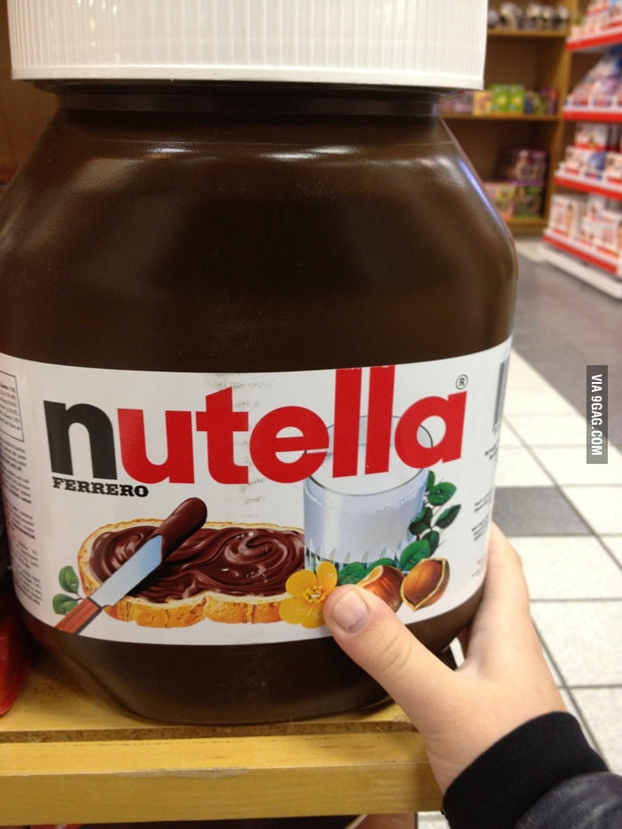 This is what $50 of Nutella looks like