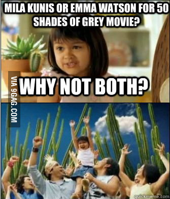 The obvious solution to the 50 Shades of Grey casting.