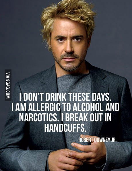 Robert Downey Jr has a way with words