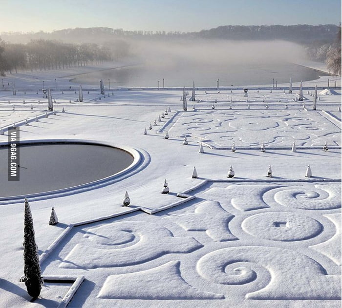 Versailles in winter