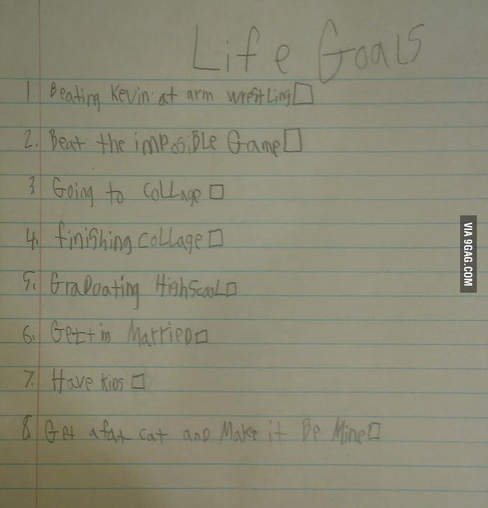 Kid's Life Goals