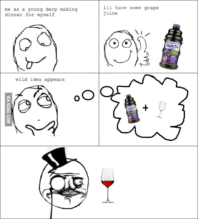 How I drank grape juice as a kid.