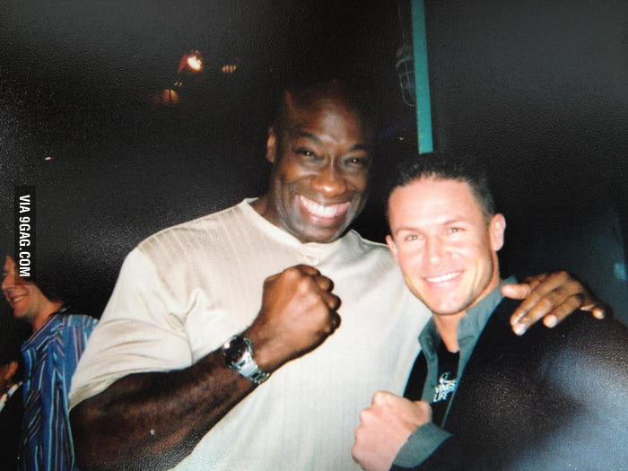 A picture of Michael Clark Duncan and Felix Baumgartner