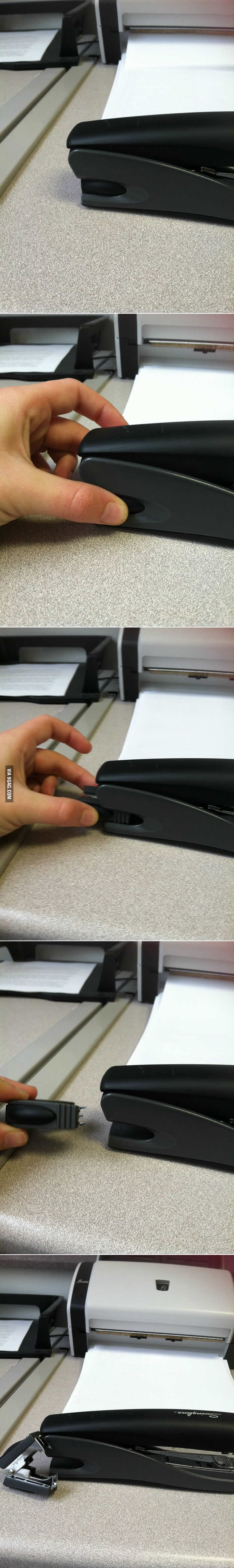 Overly excited when I found out my stapler can do this.