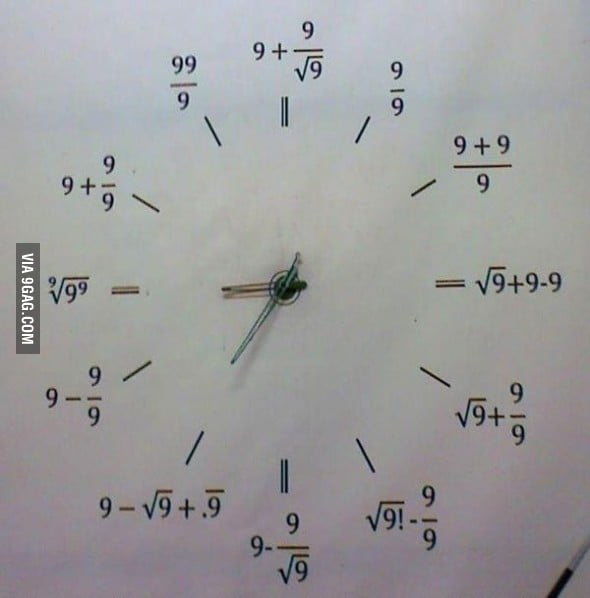 The clock of an engineer