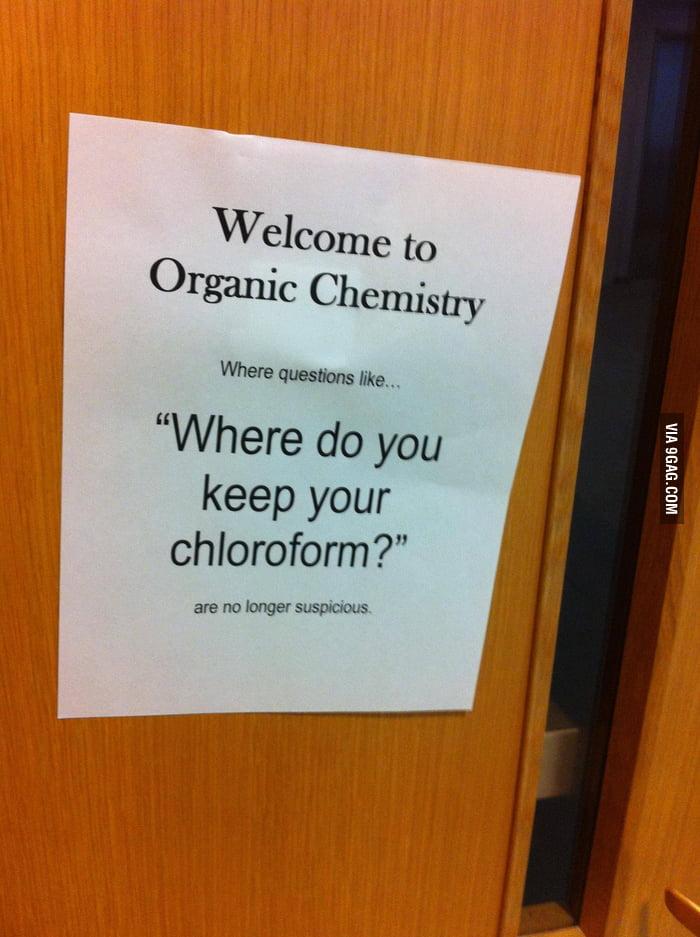 On a door in the Health Sciences building at school