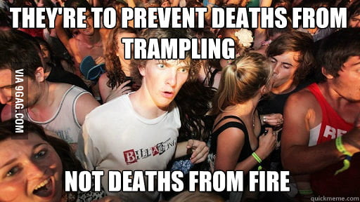 Just realized this about school fire drills