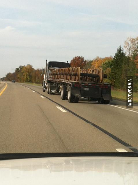 Movies have taught me never drive behind this truck.