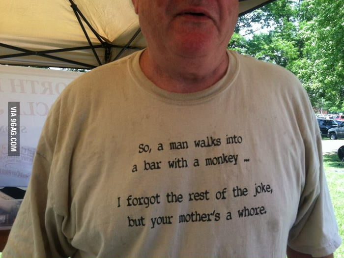 Old man t-shirt win.