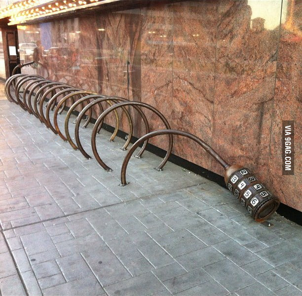 Bike lock parking rack
