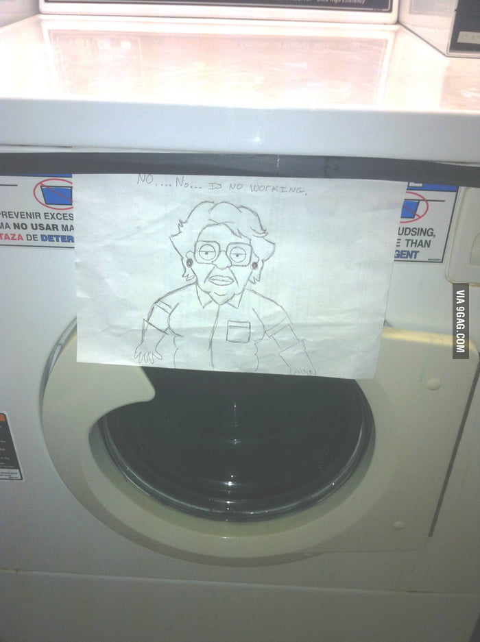 Broken Washer Sign