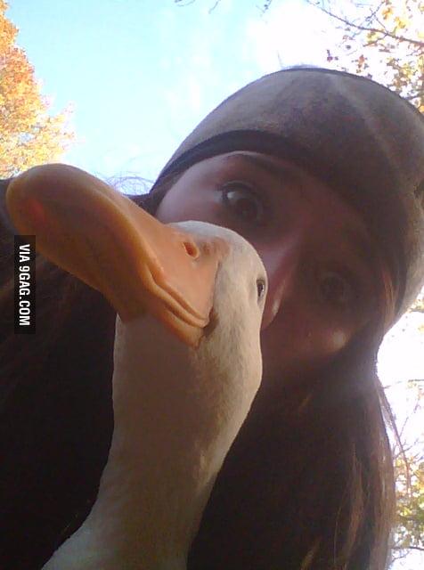 Literally A Duck Face
