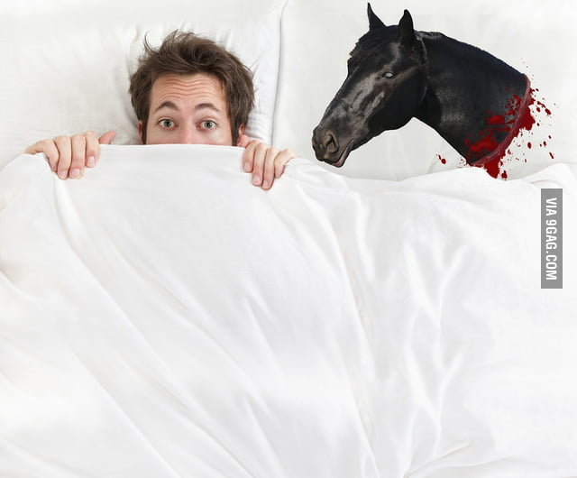 Godfather fans will love this: Horse Head Pillow Case