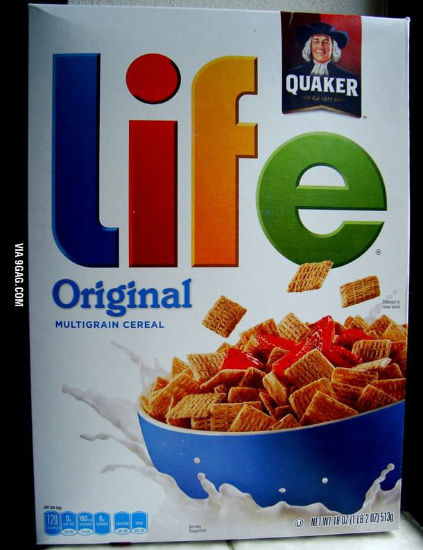 What's up with the milk Life Cereal??