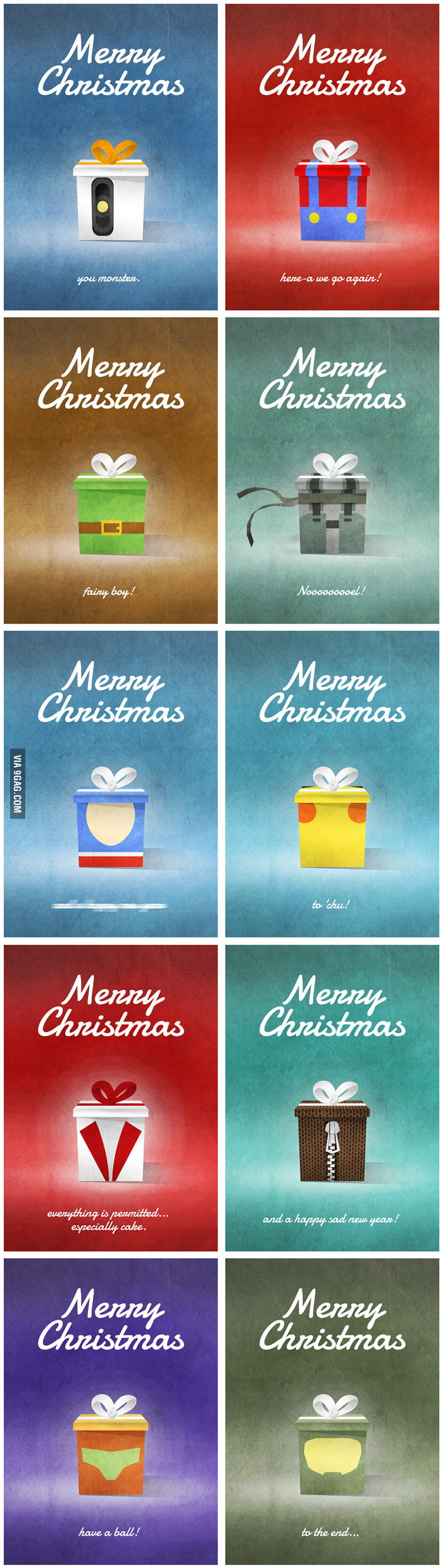 Video Games Christmas Cards