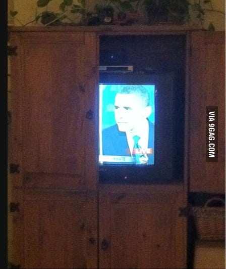 How my dad watches the presidential debate.