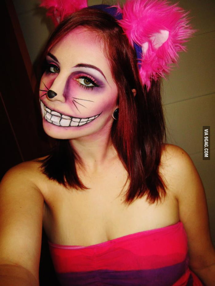 My friend's Cheshire Cat makeup