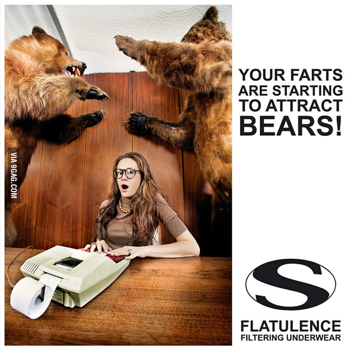 Your farts are starting to attract bears!