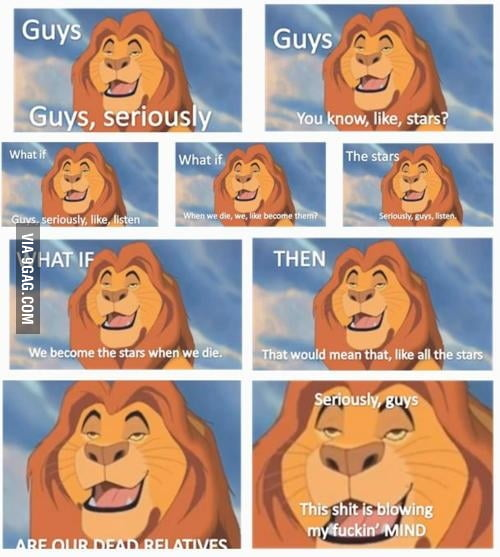 Dat lion be high