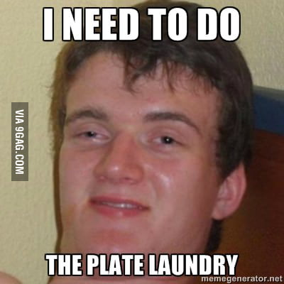 I was trying to say dishes.