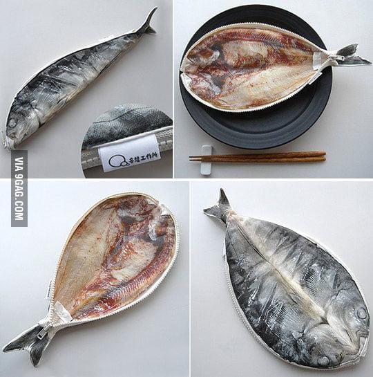 Hokke Mackerel Split Fish Pencil Case